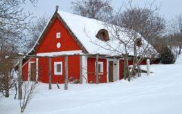 Műemlék présház a Szent Balázs-hegyen, téli öltözetben