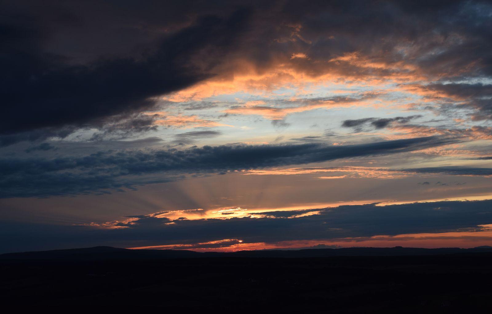 Emlékezetes augusztusi naplemente